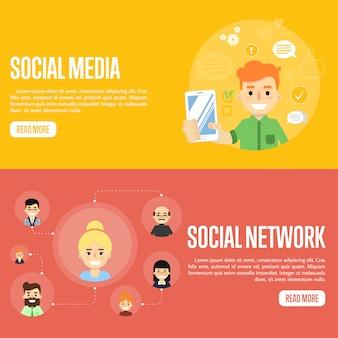Social media netwerk banner sjablonen
