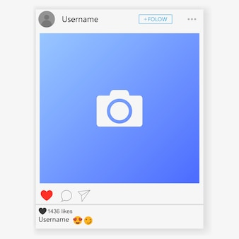 Social media netwerk. mobiele app met foto's en verhaaltegelsjabloon. gebruikersprofiel, nieuws, meldingen en post. illustratie sjabloon.