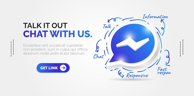 Social media ontwerp facebook messenger