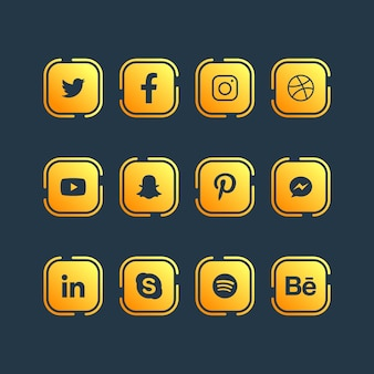 Social media pictogram ontwerp