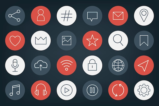 Social media pictogramserie