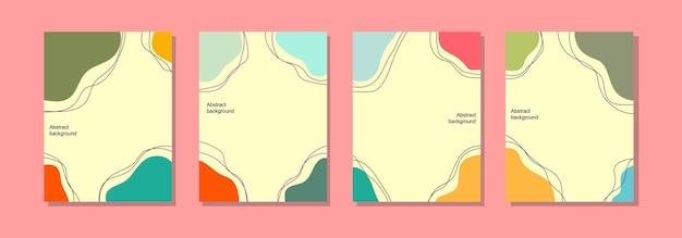 Social media post achtergrondsjabloon, abstract ontwerp en zomerkleuren