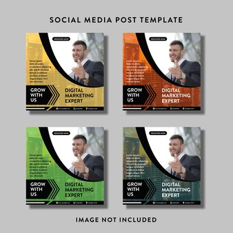 Social media post- of flyersjabloon voor digitaal marketingbureau