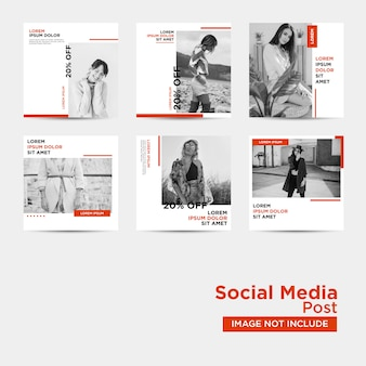 Social media post template-collectie