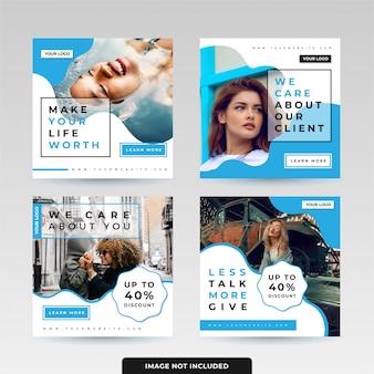 Social media post template pack