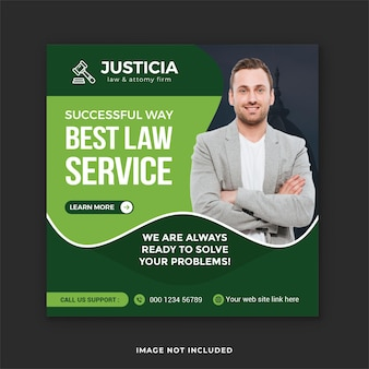 Social media-post van advocatenkantoor en juridische consultatieservice instagram-post
