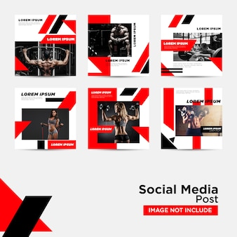 Social media post voor digitale marketing sjabloon