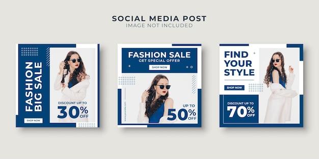 Social media postsjabloon voor damesmodeverkoop