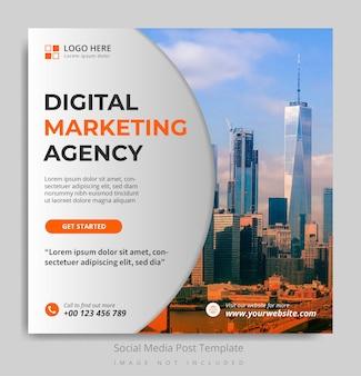 Social media postsjabloon voor digitaal marketingbureau
