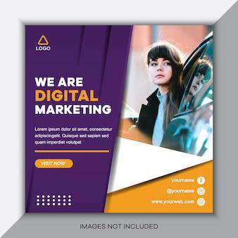 Social media postsjabloon voor digitale marketing