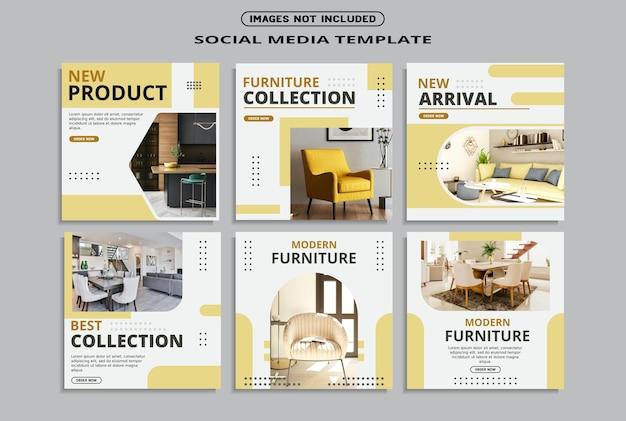 Social media postsjabloon voor meubels
