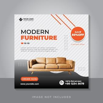 Social media postsjabloon voor meubelverkoop
