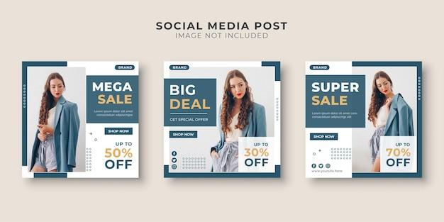 Social media postsjabloon voor modewinkels