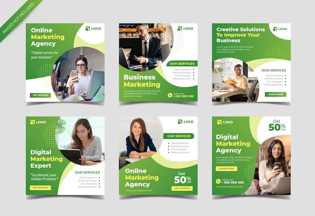 Social media postsjabloon voor online marketingbureau