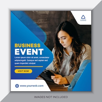 Social media postsjabloon voor zakelijke evenementen