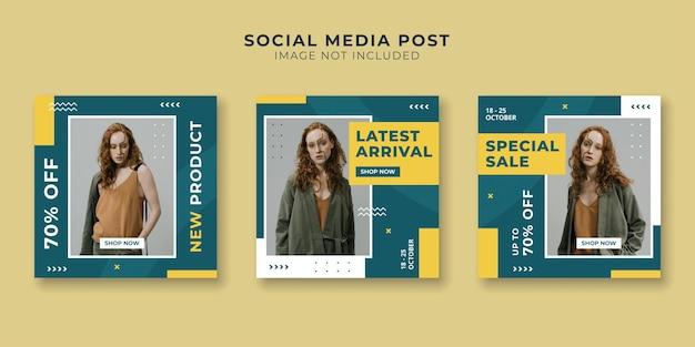 Social media postverzameling voor modeverkoop