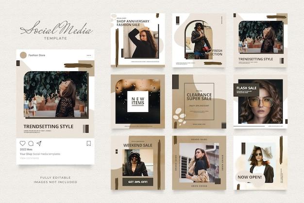 Social media sjabloon banner blog mode verkoop promotie.