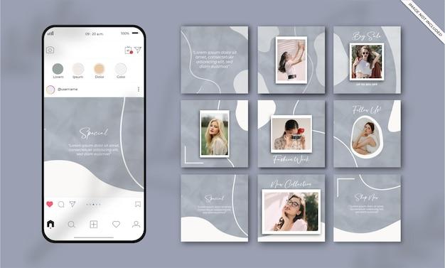 Social media sjabloon mode verkooppromotie