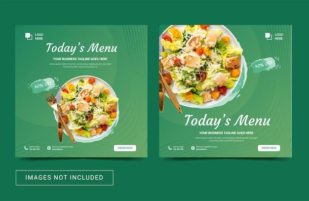 Social media sjabloon voor eten culinair heerlijk menu