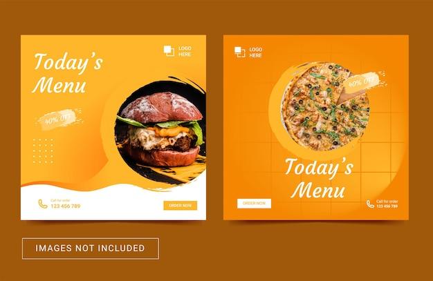 Social media sjabloon voor food post vierkante flyer instagram post