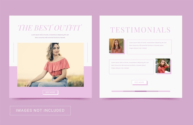 Social media-sjabloon voor mode-vrouwen elegant eenvoudig thema vierkante post flyer instagram