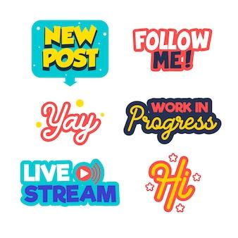 Social media slang bellenpakket