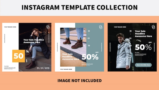 Social media template collection