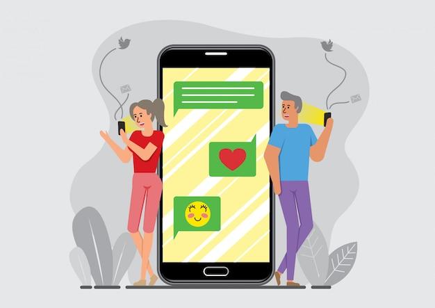 Social media-verbinding