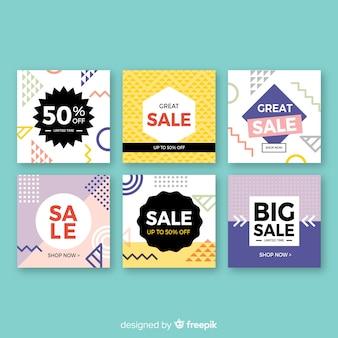 Social media-verkoopbannercollectio