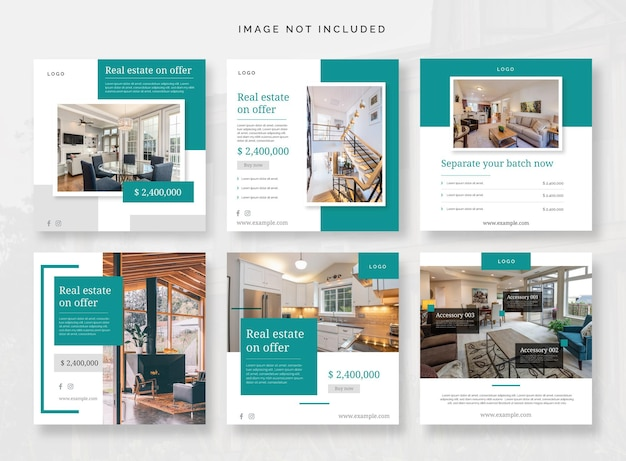 Social media vol 19 huis land architectuur decoratie sjabloon post huis appartementen huur