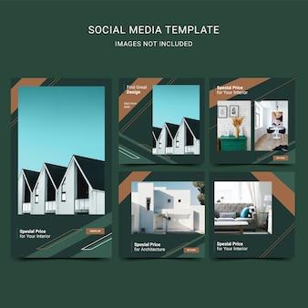Social media voor architectuur en interieur.