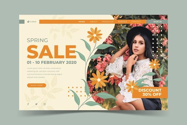 Social media voorjaar verkoop sjabloon