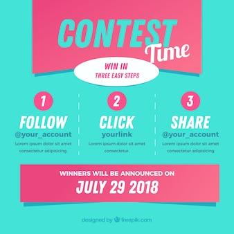 Social media-wedstrijd of weggeef-concept