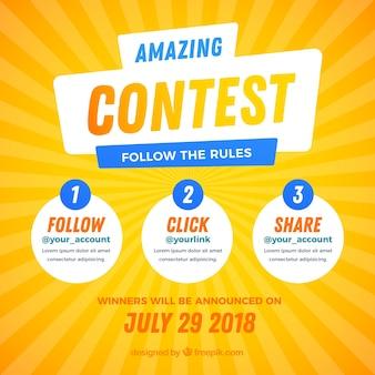Social media wedstrijdontwerp