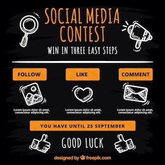 Social media-wedstrijdpagina