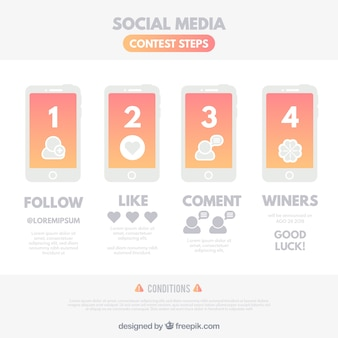 Social media wedstrijdsjabloon