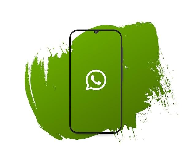 Social media whatsapp splash