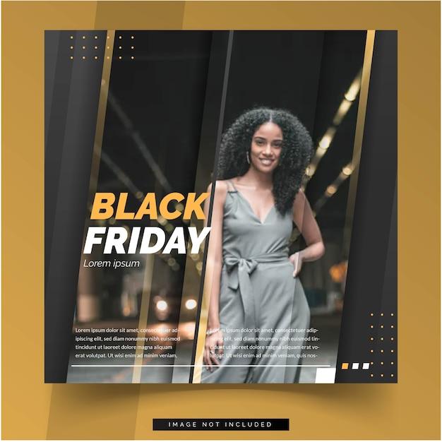 Social media zwarte vrijdagsjabloon