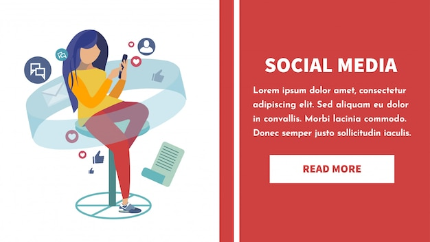 Social network landing page template