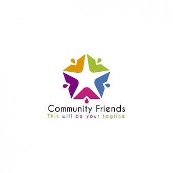 Social network template logo