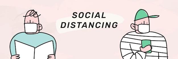 Sociale afstand coronavirus pandemie sociale sjabloon