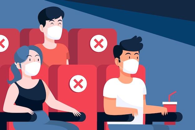 Sociale afstand in bioscopen