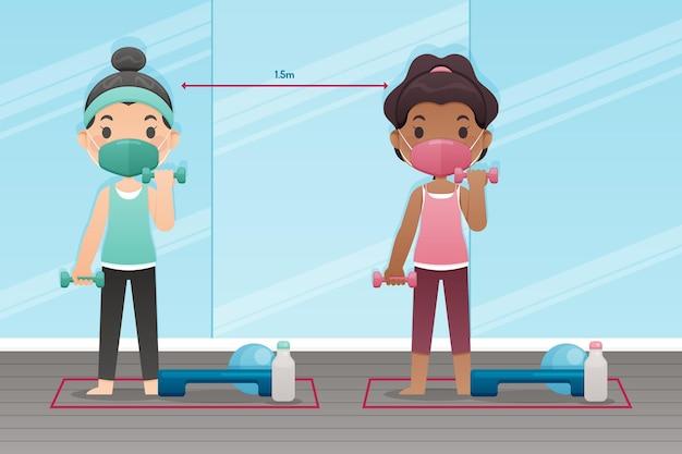 Sociale afstand in de sportschool