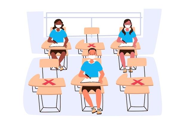 Sociale afstand nemen op school