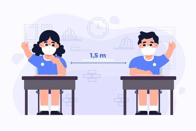 Sociale afstand op school