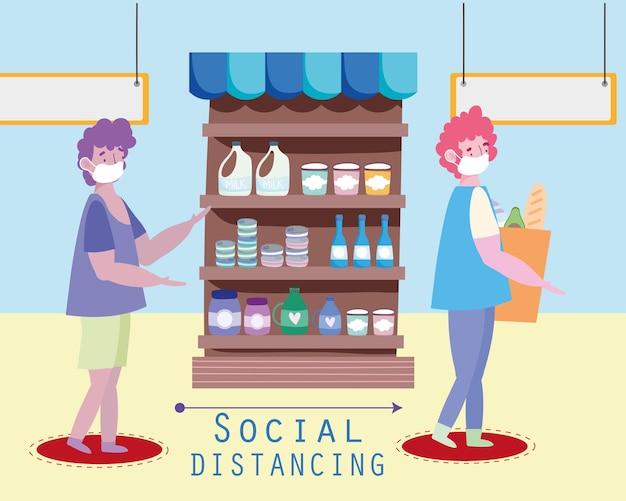 Sociale afstandelijke mannen
