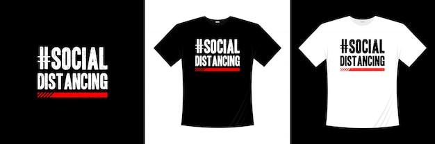 Sociale afstandelijke typografie