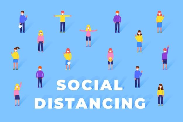 Sociale afstandsachtergrond