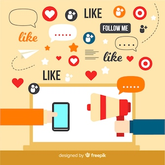 Sociale beïnvloeder concept