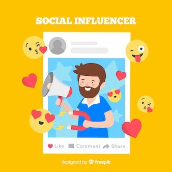 Sociale beïnvloederachtergrond